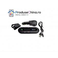 Car Kit Maini Libere Handsfree Auto cu Bluetooth pentru 2 telefoane, LED, DSP, USB, Microfon Incorporat