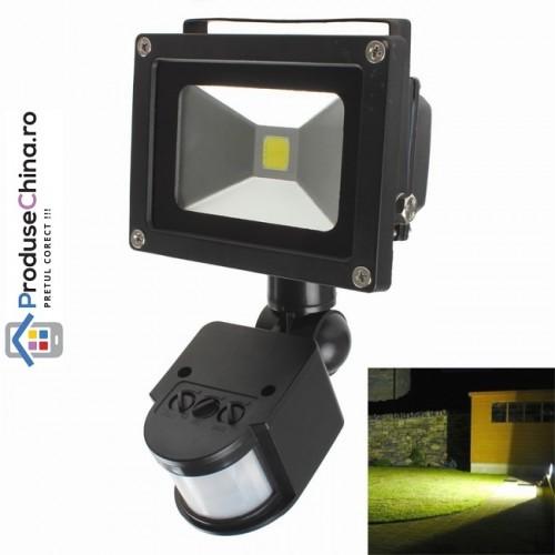 Proiector cu LED COB si senzor de miscare setabil 10 W