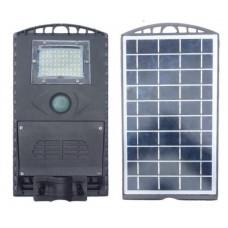 Lampa LED cu senzor de miscare pentru iluminat stradal si grad de luminozitate, cu alimentare solara