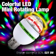 Bec Economic Rotativ Multicolor cu LED 3W