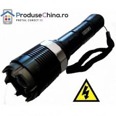 Lanterna cu electrosoc cu 3 faze de iluminare, lupa si zoom