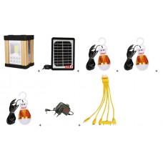Kit Lanterna cu Incarcare  Solara si Iluminare cu 1 LED COB si 8 LED SMD